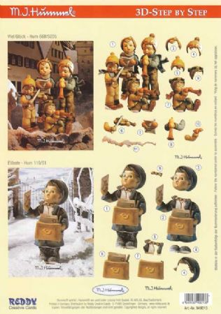 Hummel Children At Christmas 3d Decoupage Sheet by Reddy
